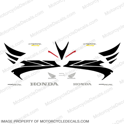 1000RR 06-07 Full Factory Replica Decal Kit -Black Upper