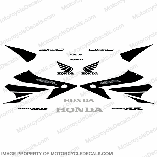 1000RR 04-05 Full Factory Replica Decal Kit - Black