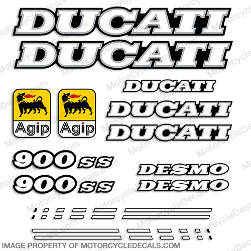 Ducati 900ss Decal Kit - 1991