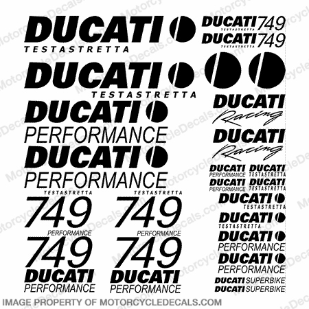 Ducati 749 Testastretta Decal Kit - Any Color!