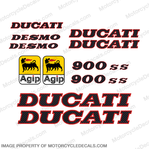 Ducati 900ss Decal Kit 1991 - Carbon Fiber