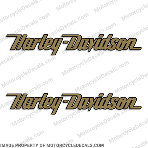 Harley-Davidson Fuel Tank Motorcycle Decals (Set of 2) - Style 8