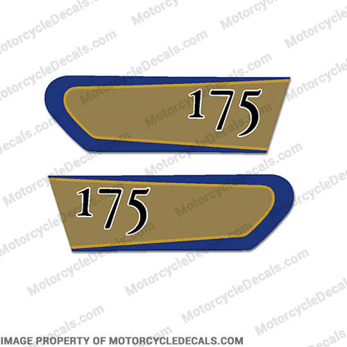 Kawasaki 175 (F7) Oil Tank Decals - 1972
