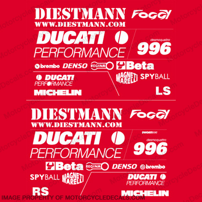 "Ducati 996 ""Foggy"" Race Replica Decal Kit"