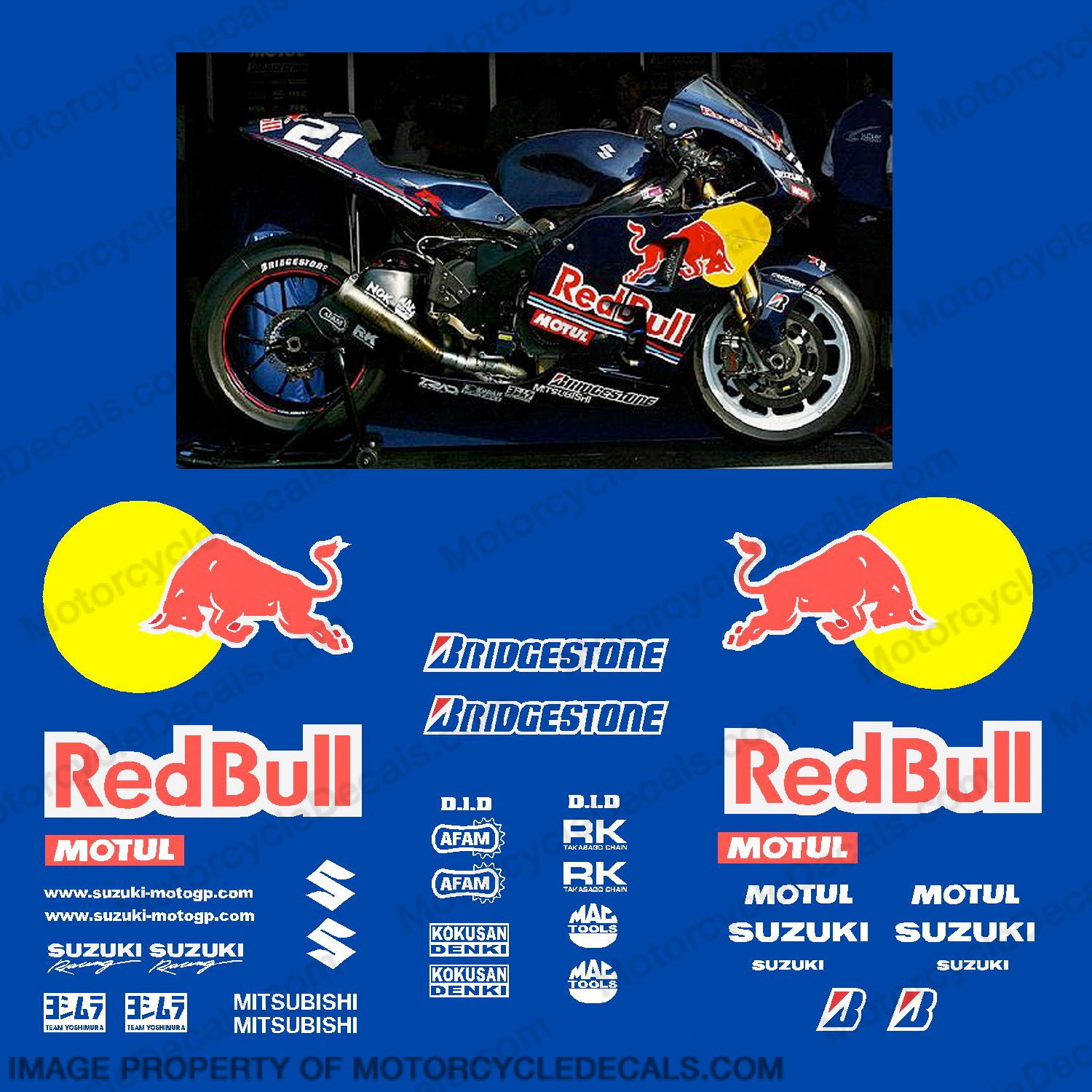 Suzuki GSX-R 600 Redbull Race Decal Kit