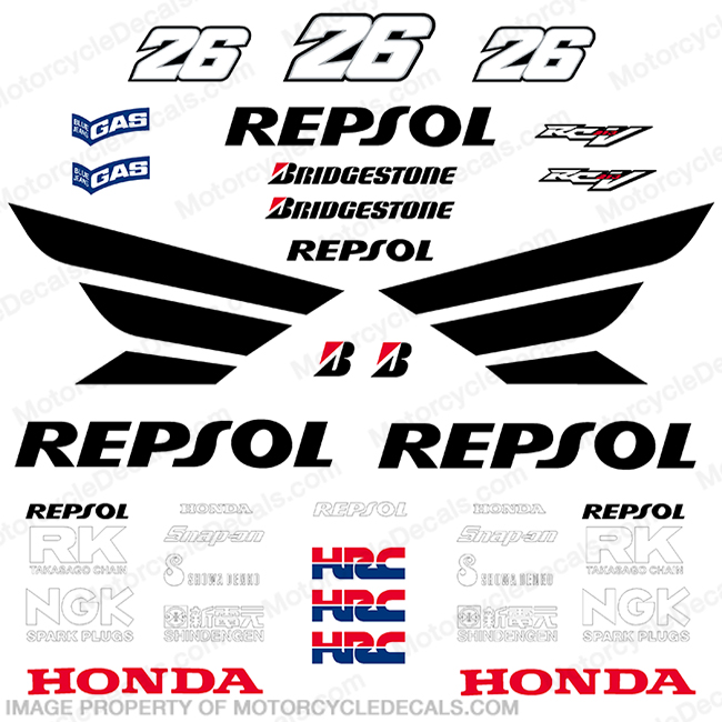 Honda Repsol Dani Pedrosa Decal Kit - 2010