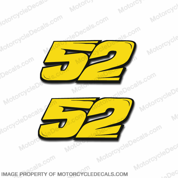 "Moto GP Number ""52"" Decals - Set of 2"