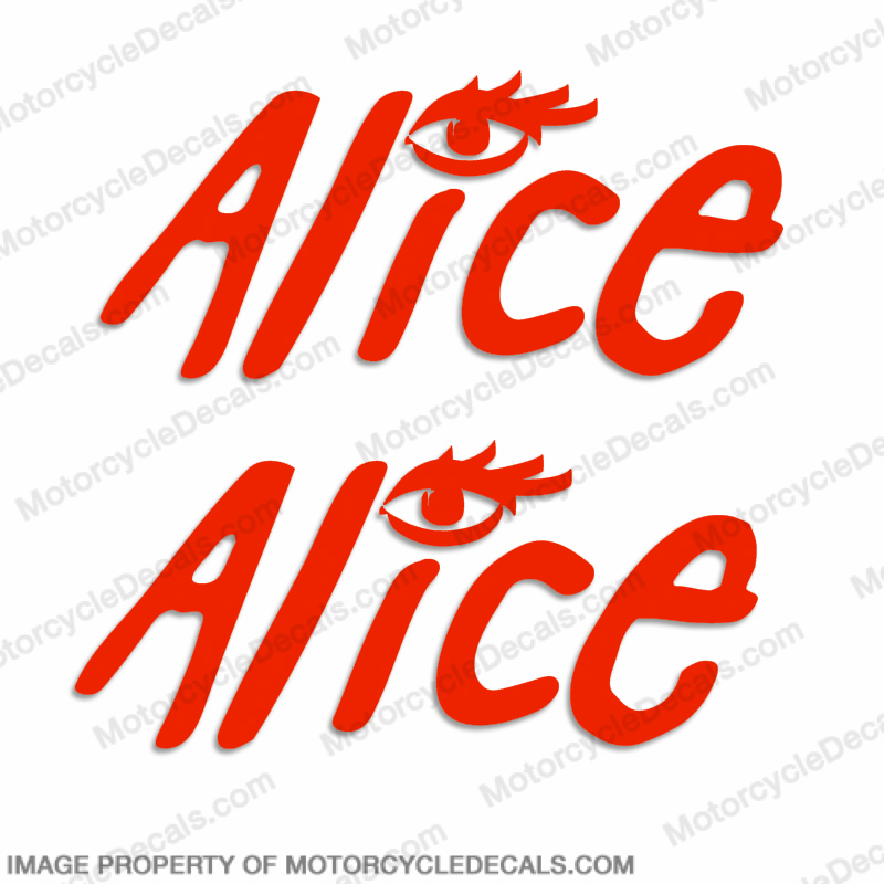 "MotoGP ""Alice"" Decals - Set of 2"