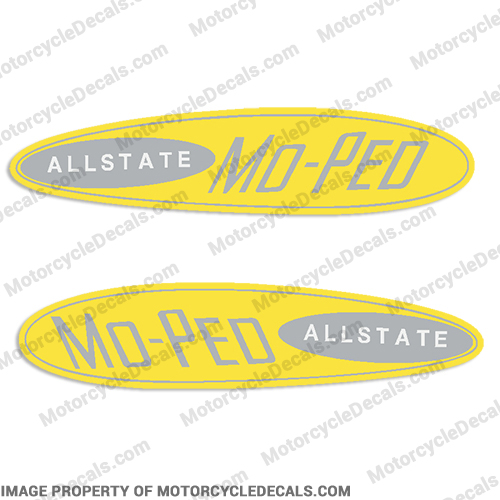 Sears Allstate Moped Gas Tank Decals (Set of 2)