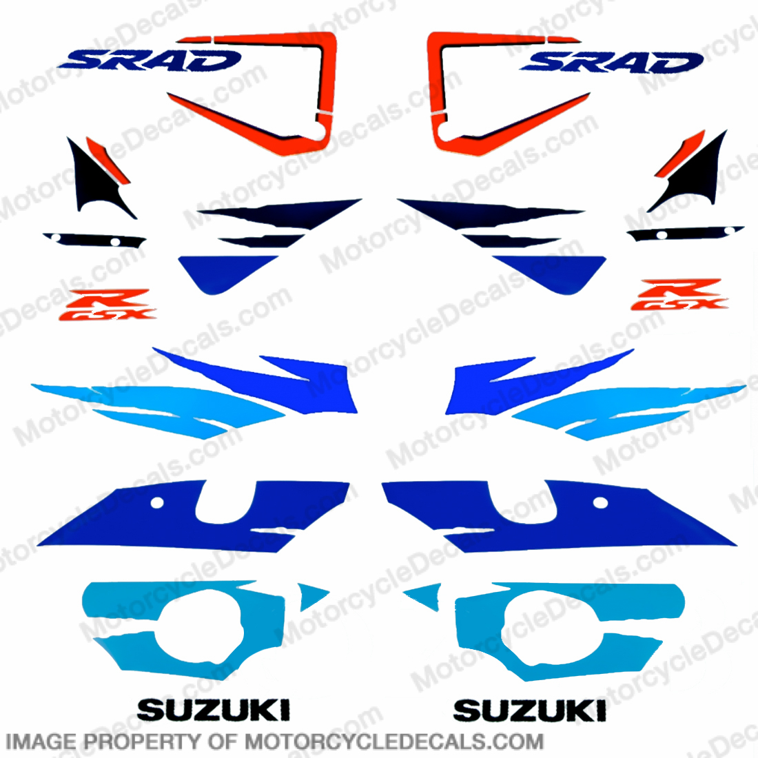 Suzuki GSX-R 750 Scrad Full Decals 96 - 98
